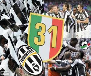 puzzel Juventus Turijn, Kampioen Serie A Lega Calcio 2012-2013, Italiaanse voetbalcompetitie