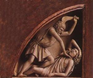 puzzel Kaïn, de eerstgeborene van Adam en Eva, ten tijde van de moord op zijn broer Abel