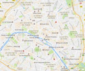 puzzel Kaart in Parijs
