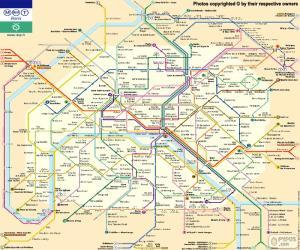 puzzel Kaart van de Parijse metro