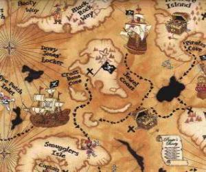 puzzel Kaart van de schat