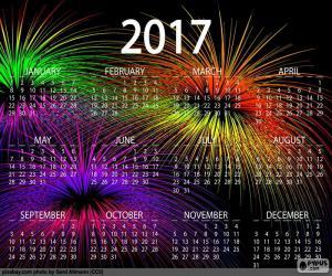 puzzel Kalender 2017, gelukkig Nieuwjaar