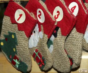 puzzel Kalender sokken