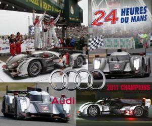 puzzel Kampioen 24 Uren van Le Mans 2011 Audi R18 TDI
