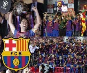 puzzel Kampioen sportkringen Barcelona Copa del Rey 2011-2012