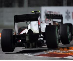 puzzel Kamui Kobayashi - Sauber - 2010 in Singapore