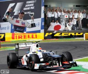 puzzel Kamui Kobayashi - Sauber - Grand Prix van Japan 2012, 3e ingedeeld