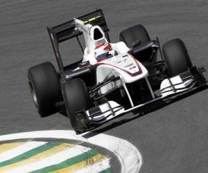 puzzel Kamui Kobayashi - Sauber - Interlagos 2010