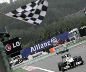 puzzel Kamui Kobayashi - Sauber - Spa-Francorchamps 2010
