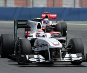 puzzel Kamui Kobayashi - Sauber - Valencia 2010