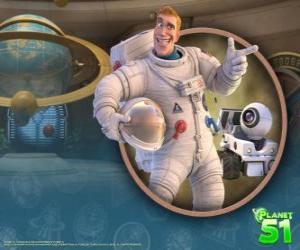 puzzel Kapitein Charles Chuck Baker, met zijn robot Rover