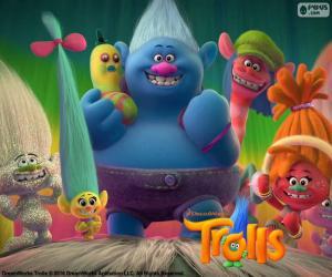 puzzel Karakters van de Trolls