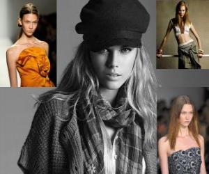 puzzel Karlie Kloss is een Amerikaans model en balletdanseres