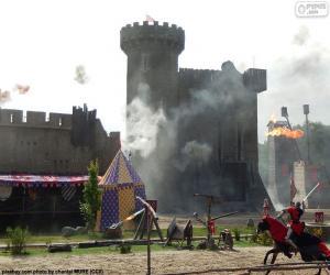 puzzel Kasteel van de Middeleeuwen