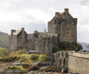 puzzel Kasteel van Eilean Donan Castle in Schotland