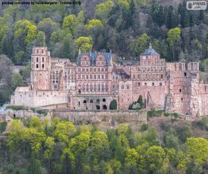 puzzel Kasteel van Heidelberg, Duitsland