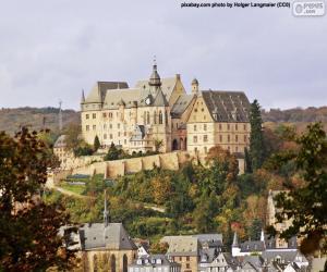puzzel Kasteel van Marburg, Duitsland