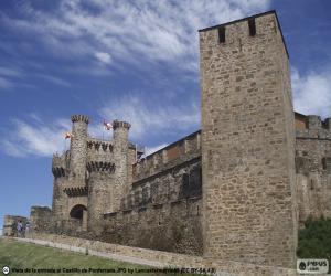 puzzel Kasteel van Ponferrada, Spanje