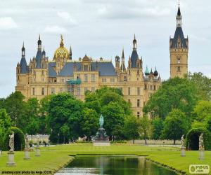 puzzel Kasteel van Schwerin, Duitsland