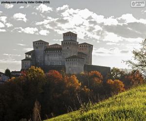 puzzel Kasteel van Torrechiara, Italië