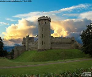 puzzel Kasteel van Warwick, England