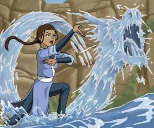 puzzel Katara is een krachtige water - meester die samen met Aang met zijn broer Sokka