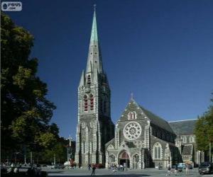 puzzel Kathedraal van Christchurch, Nieuw-Zeeland