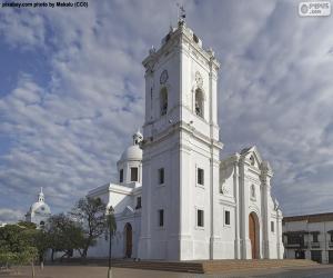 puzzel Kathedraal van de basiliek van Santa Marta, Colombia