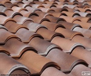 puzzel Keramische dakpannen