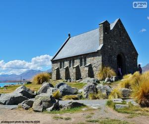 puzzel Kerk van de Goede Herder, Nieuw-Zeeland