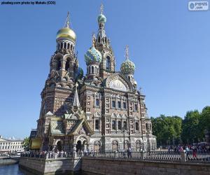 puzzel Kerk van de Verlosser op het Bloed, Rusland