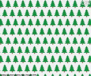 puzzel Kerst bomen papier