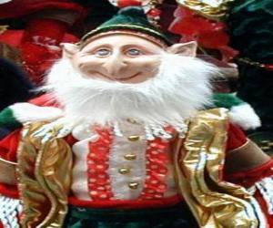 puzzel Kerst elf met de puntige oren en puntige hoed