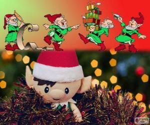 puzzel Kerst elfen