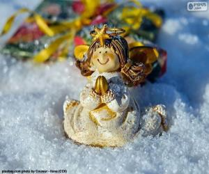 puzzel Kerst engel bidden