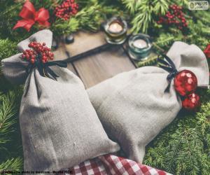 puzzel Kerst geschenk zakken