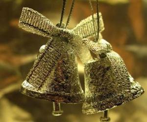 puzzel Kerst klokken met linten