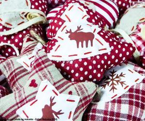 puzzel Kerst ornamenten, stof