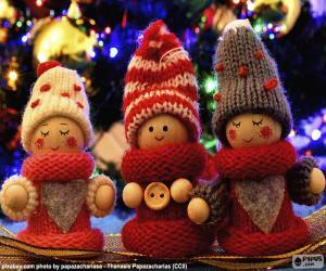 puzzel Kerst poppen