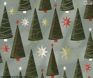 puzzel Kerstbomen en sterren