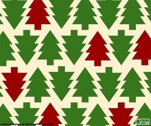 puzzel Kerstboom achtergrond