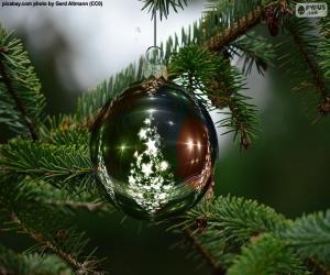 puzzel Kerstboom bal