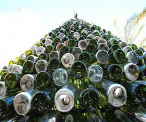 puzzel Kerstboom gemaakt van gerecyclede flessen 5000