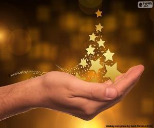puzzel Kerstboom, sterren