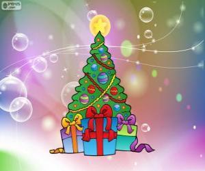 puzzel Kerstboom tekening