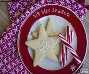 puzzel Kerstkoekjes en-stokken
