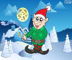 puzzel Kerstman elf