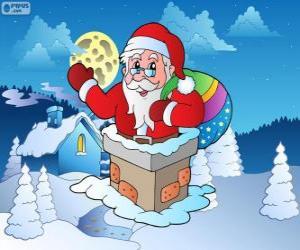 puzzel Kerstman in de schoorsteen