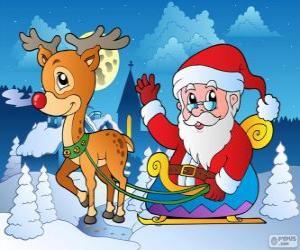 puzzel Kerstman in slee