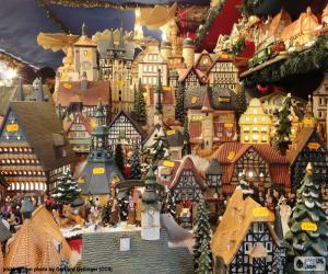 puzzel Kerstmarkt, ornamenten